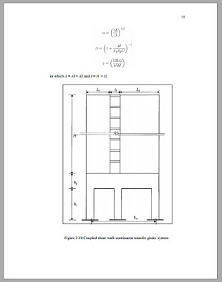 Analysis and Design of shear Wall - Transfer Beam Structure