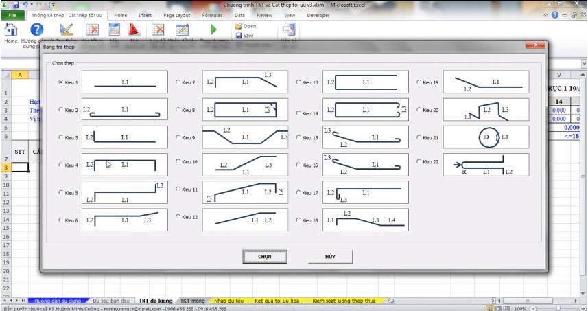 Chương trình thống kê thép và cắt thép tối ưu